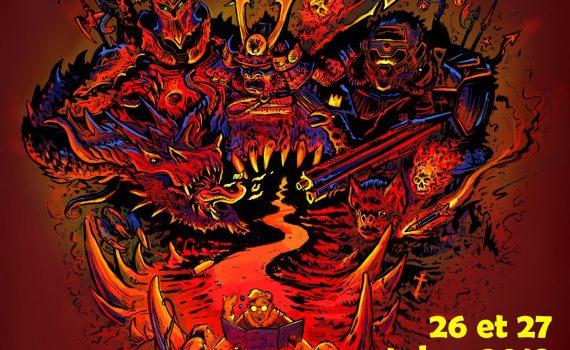 l'affiche de la convention de jeu de rôle en vendée 2019